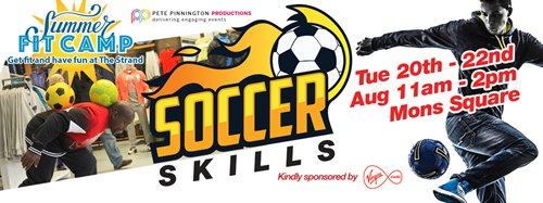 Soccer skills camp 20-22nd August