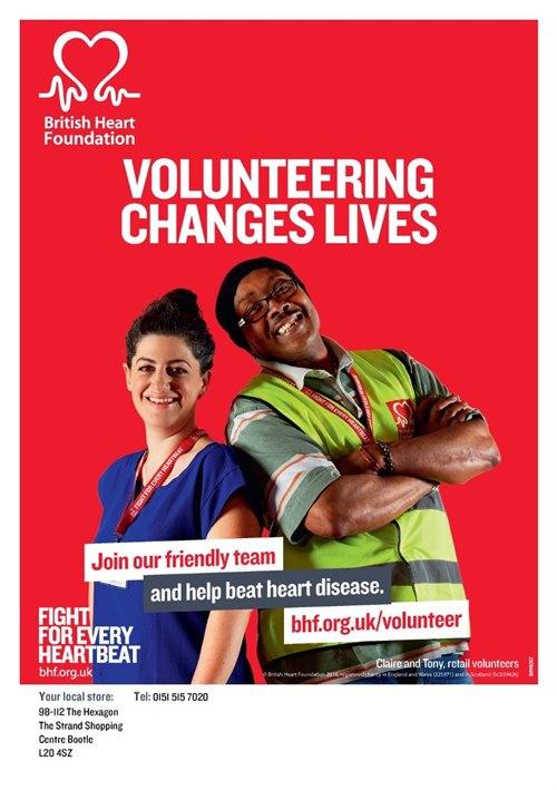 Volunteers needed for British Heart Foundation