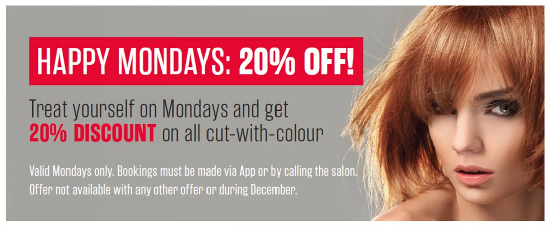 Hairlucinations 20% off Mondays offer